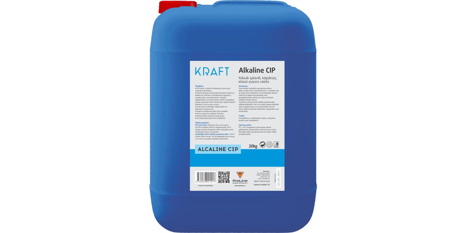 "<span style=""font-weight: bold;"">KRAFT Alcaline CİP&nbsp;</span>"
